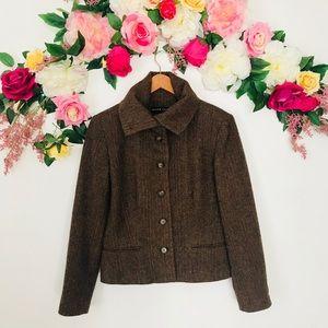 Ralph Lauren black label Brown lambswool blazer 12
